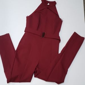 Adelyn rae burgundy women's jumpsuit